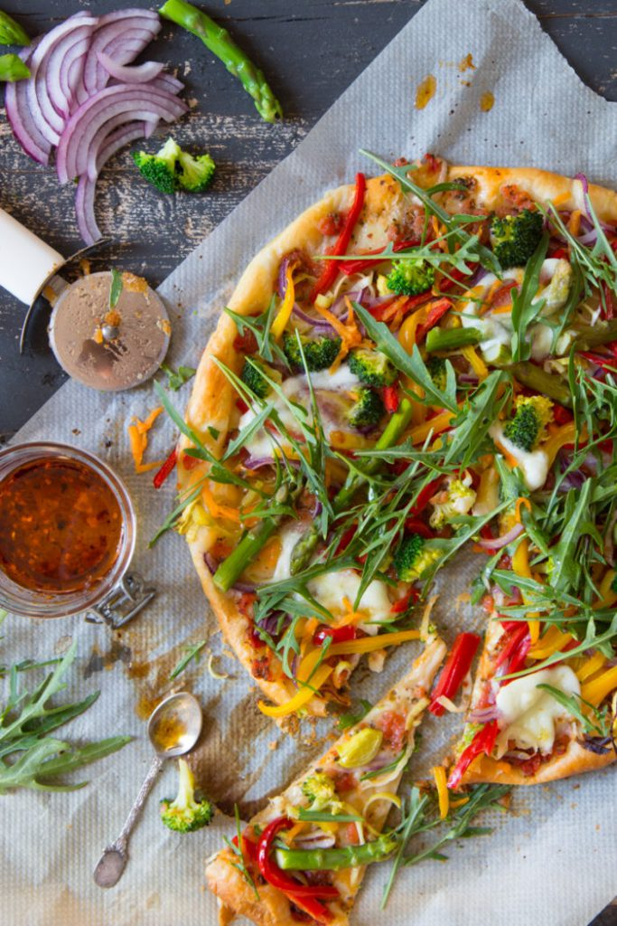Puff Pastry Pizza With Colorful Veggies Chiliandsweet